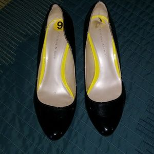 Etienne Aigner heels black patent leather s 9